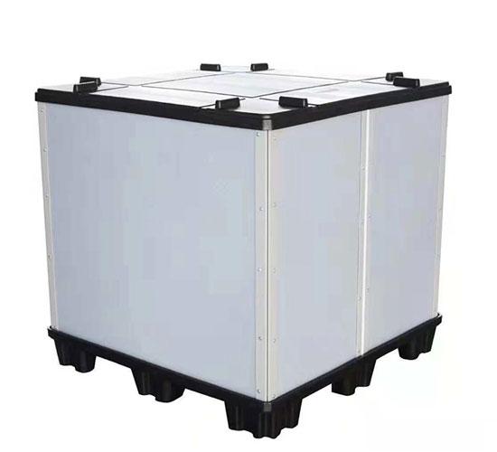 塑料蜂窝板折叠围板箱1100*1100